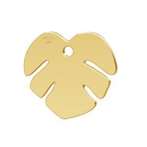 Lotus blume anhänger, 14K gold LKZ-00809 - 0,30