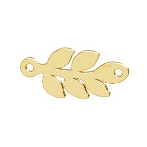 Monstera Blatt anhänger, 14K gold LKZ-00809 - 0,30