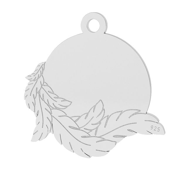 Flügel anhänger, sterling silber 925, LK-1467 - 0,50