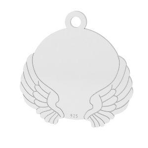Flügel anhänger, sterling silber 925, LK-1469 - 0,50