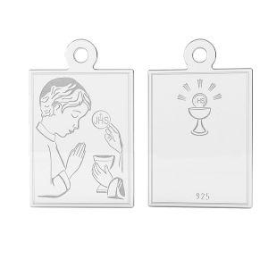 Medaillon sterling silber, LK-1489 - 0,50