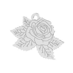 Rose anhänger, sterling silber 925, LK-1476 - 0,50