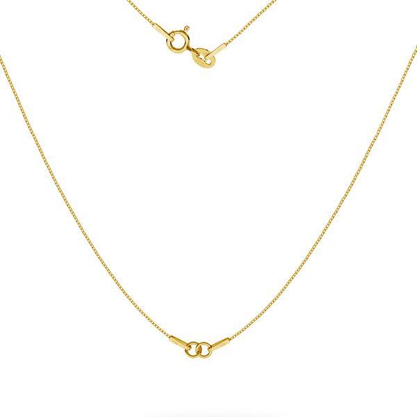 Halskette base SG-CHAIN 3 - (20+20 cm) AU 585 14K