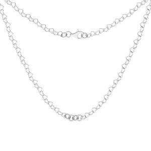 Kette basis für armband, sterling silber 925, S-CHAIN 28 (SRC 045)