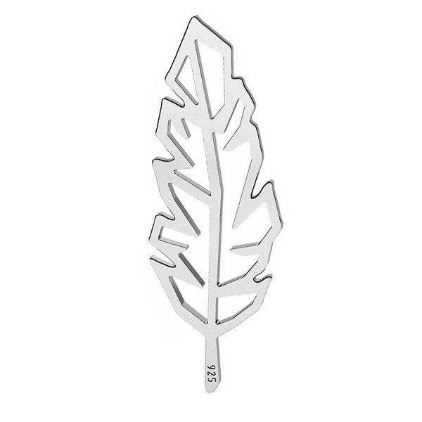 Origami feder anhänger Silber, silber 925, LK-1505 - 0,50