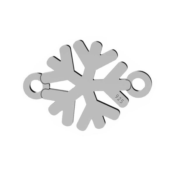 Schneeflocke anhänger, silber 925, LK-1537 - 0,50