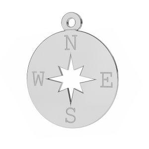 Barmherzigkeit windrose anhänger, silber 925, LKM-2015