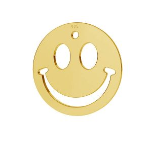 Lächeln emoticon anhänger, silber 925, LKM-2025
