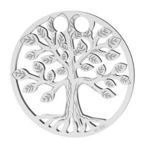 Baum des lebens anhänger, silber 925, LKM-2028