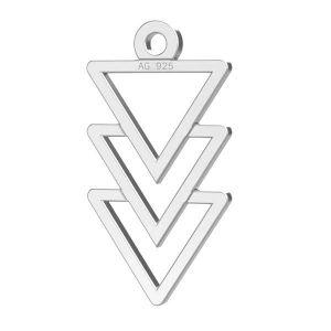 Dreieck anhänger, silber 925, LKM-2036