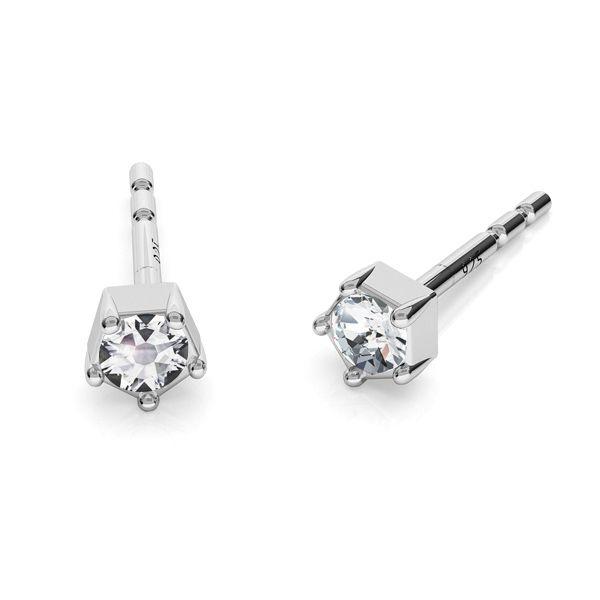 Ohrringe mit 2 mm Swarovski-Kristallen, ODL-00467 KLS ver.2
