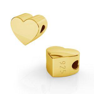 Herz anhanger bead, sterling silber, ODL-00474