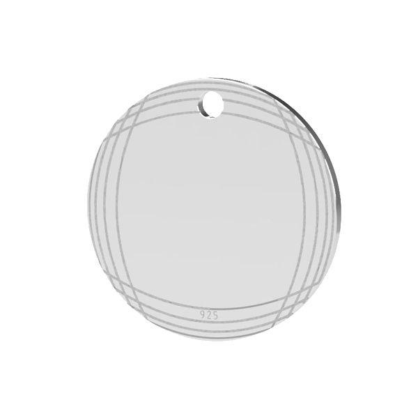 Runder anhänger, silber 925, LK-1481 - 0,50
