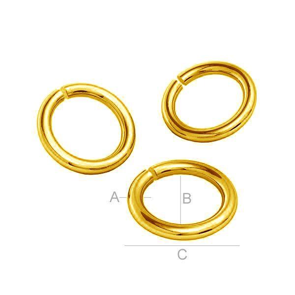 Gold biegeringe AU 585 14K, KC-0,80x4,25