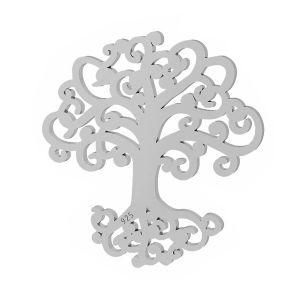 Baum anhänger, silber 925, LKM-2090 - 0,50