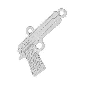 Gewehr anhänger, silber 925, LKM-2092 - 0,50