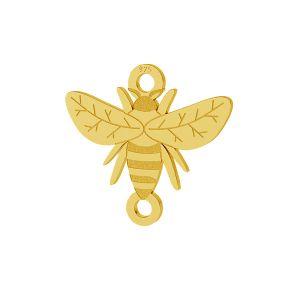 Biene anhänger, silber 925, LKM-2096 - 0,50