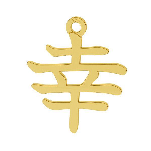 Chinesisches Schriftzeichen des Glücks anhänger, silber 925, LKM-2109 - 0,50