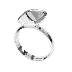 Silber ring Cushion Fancy Stone base, OKSV 4568 MM 14,0X 10,0 S-Ring Universal