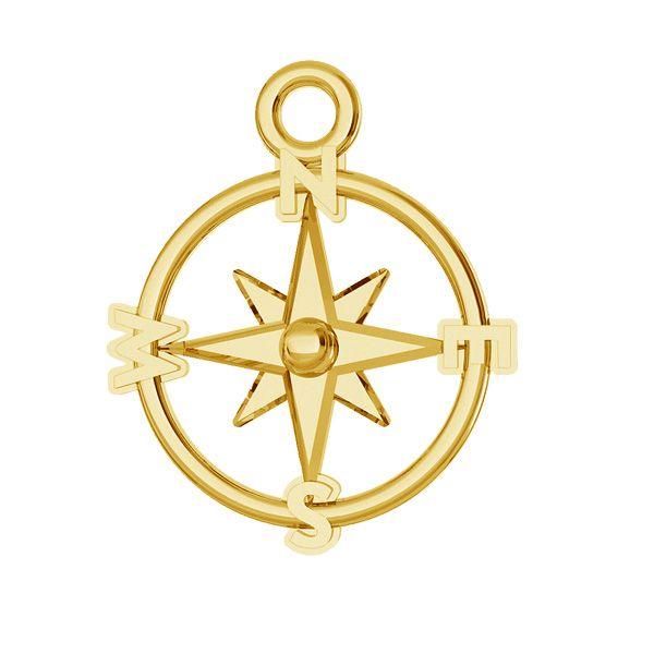 Kompass anhänger, silber 925, ODL-00465