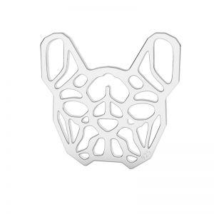 Französische Bulldogge anhänger silber, LK-1557 - 0,50