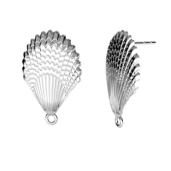 Schale ohrringe, silber 925, ODL-00515 KLS