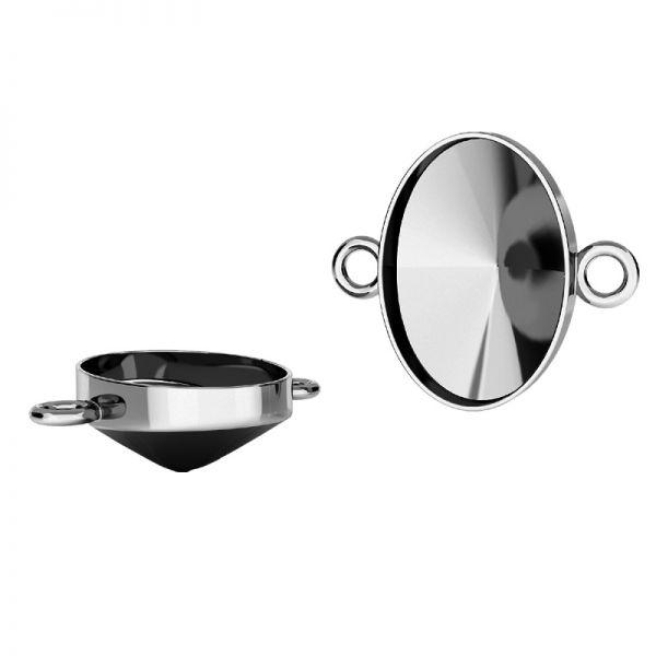 Anhänger Swarovski Rivoli Oval Basis Silber, OKSV 4122 MM 14,0 CON 2 ver.2