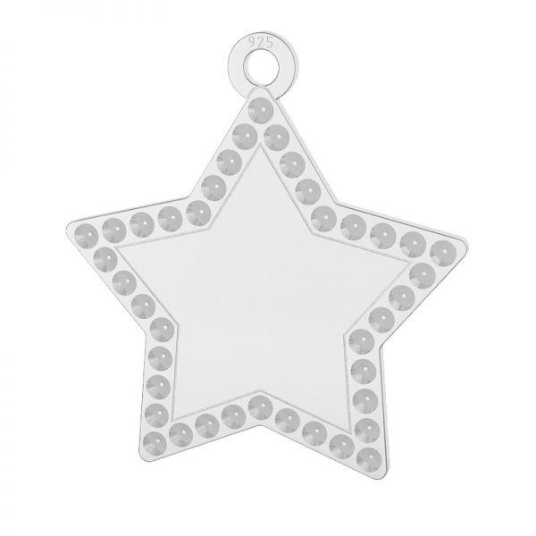 Stern anhänger, silber 925, LKM-2132 - 0,80 (1028 PP 4)