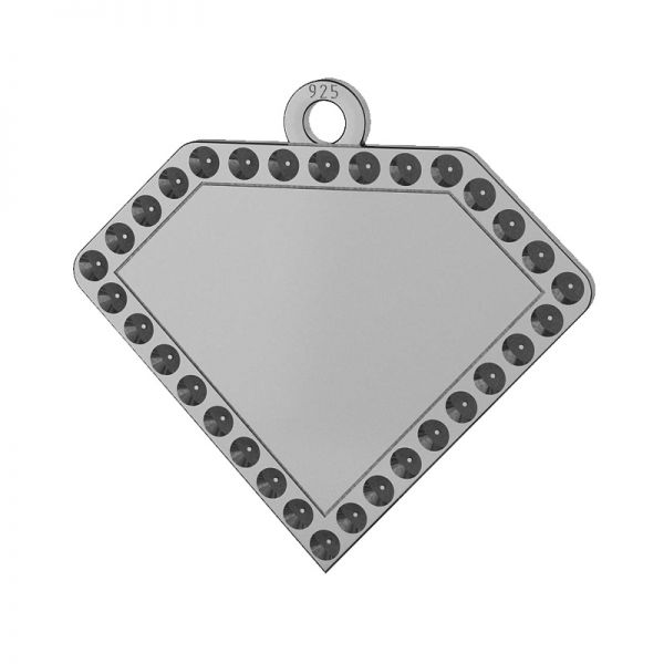 Diamant anhänger, silber 925, LKM-2142 - 0,80 (1028 PP 4)