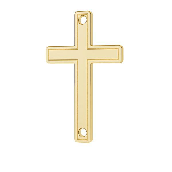 Kreuz anhänger 14K gold LKZ-00028 - 0,30 mm