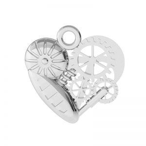 Mechanisches Herz Anhänger Silber, ODL-00521
