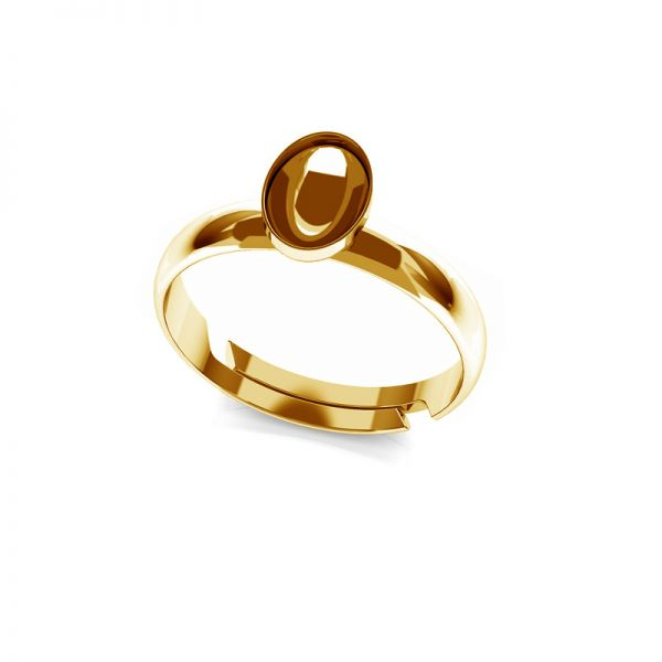Ring Swarovski Rivoli Oval Basis Silber, OKSV 4122 MM  8,00 UNIVERSAL RING