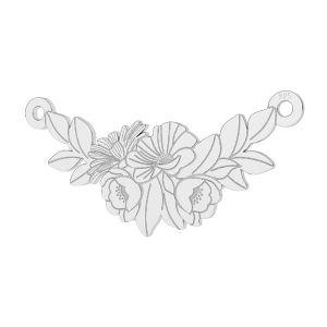 Blumenstrauß Anhänger Silber, LKM-2245 - 0,50