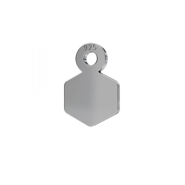 Sechseck mini anhänger silber 925, LKM-2339 - 0,50