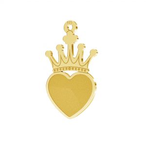 Krone anhänger, silber 925, LKM-2330 - 0,50