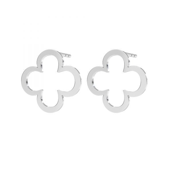 Klee ohrringe, sterling silber 925, KLS LKM-2291 - 0,50 13x13 mm
