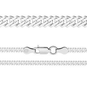 Rombokette*silber 925*RD 100 6L (38 cm)