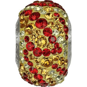82043 BeCharmed Pavé Fire Bead - Topaz, Jonquil, Light Siam