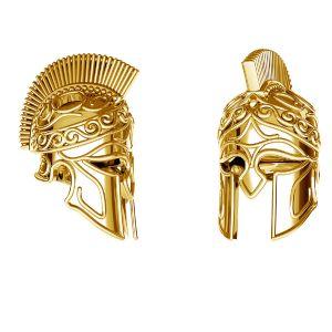 Spartanischer Helm anhänger*sterlingsilber 925*ODL-00646