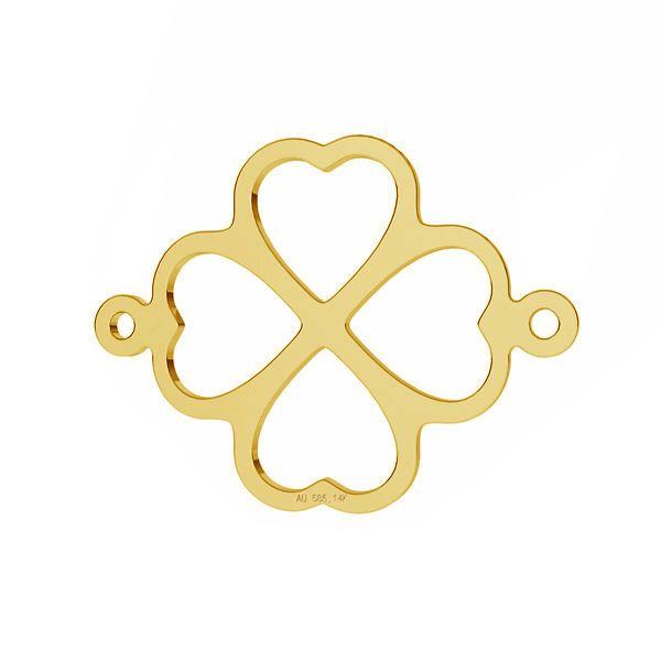 Kleeblatt anhänger*AU 585 14K gold*LKZ-50012 - 03