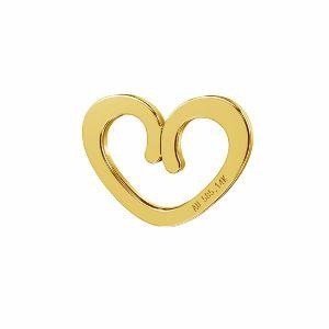 Herz anhänger*AU 585 14K gold*LKZ-50009 - 03