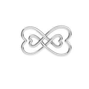 Unendlichkeitszeichen anhänger, silber 925, ODL-00674 11x20,5 mm