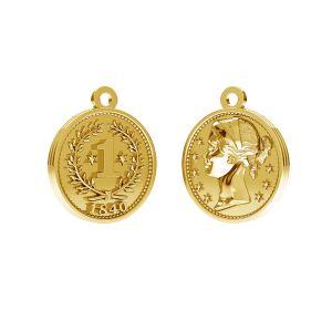 Chinesische münze anhänger, silber 925, ODL-00012