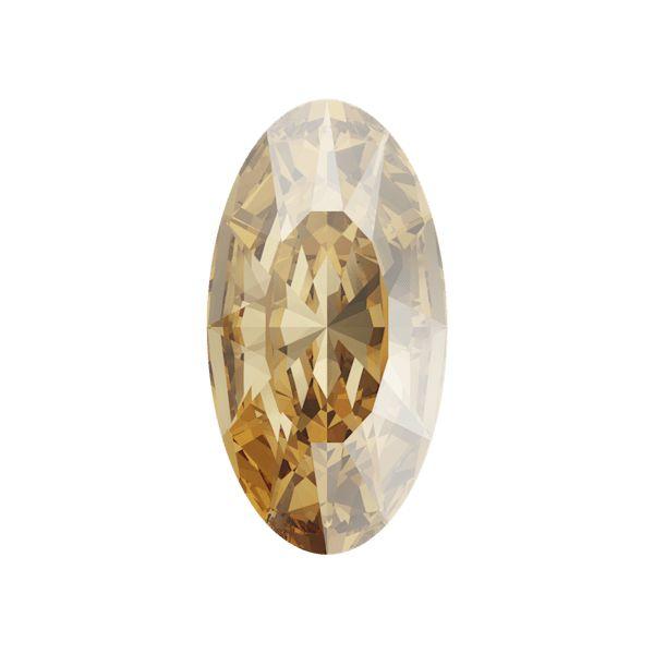 4162 MM 10,0X 5,5 CRYSTAL GOL.SHADOW F (Elongated Oval Fancy Stone)