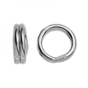 Doppelsprung ringe silber 925 OG 4 - 2,55x4 mm