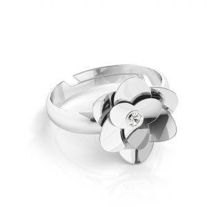 Rose ring *silber 925*U-RING ODL-00041