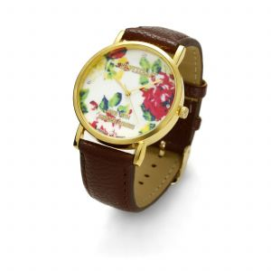 BROWN FLOWER WATCH, MODEL 464