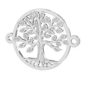 Baum anhänger, silber 925, LKM-2514 - 0,50 15x19,6 mm