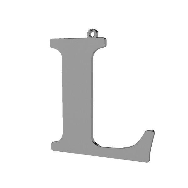 Anhänger - großer buchstabe L*sterling silber 925*LKM-2499 - 0,60 33,9x38,3 mm