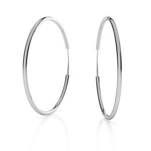 Kreis Ohrring*Sterlingsilber 925*KL-350 1,5x50 mm
